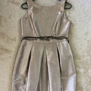 White House Black Market Champagne Gold Dress 6